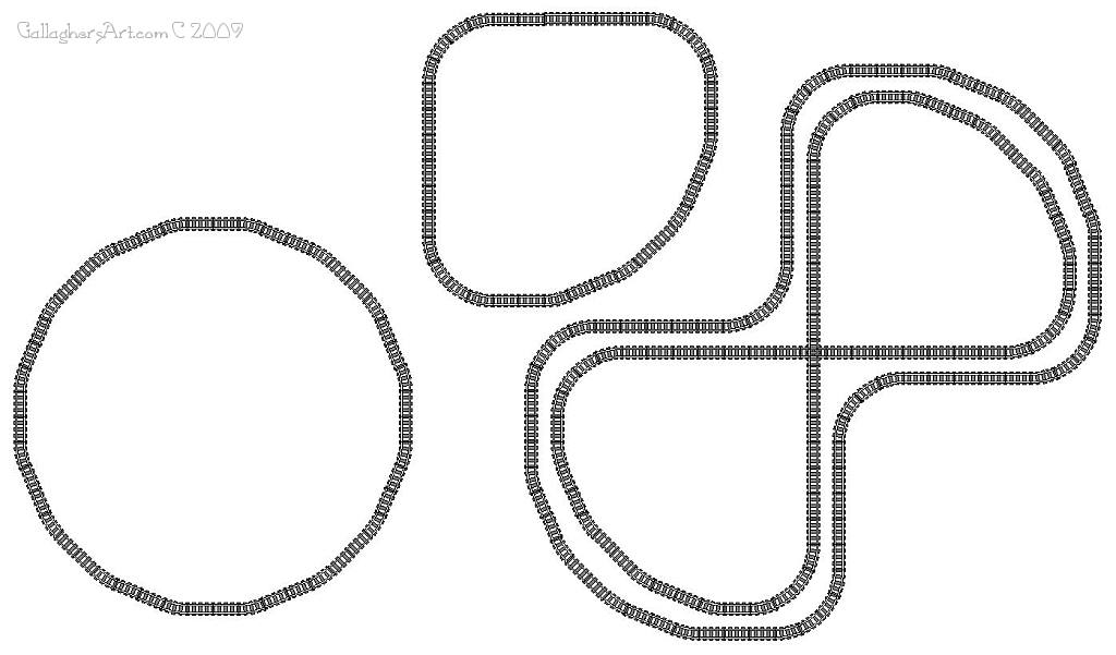 LEGO train track study circles from Lego Train Track Geometry