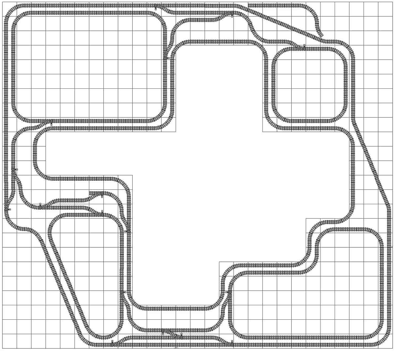 Legal LEGO train track layout star_01_g2 from Lego Train Track Geometry