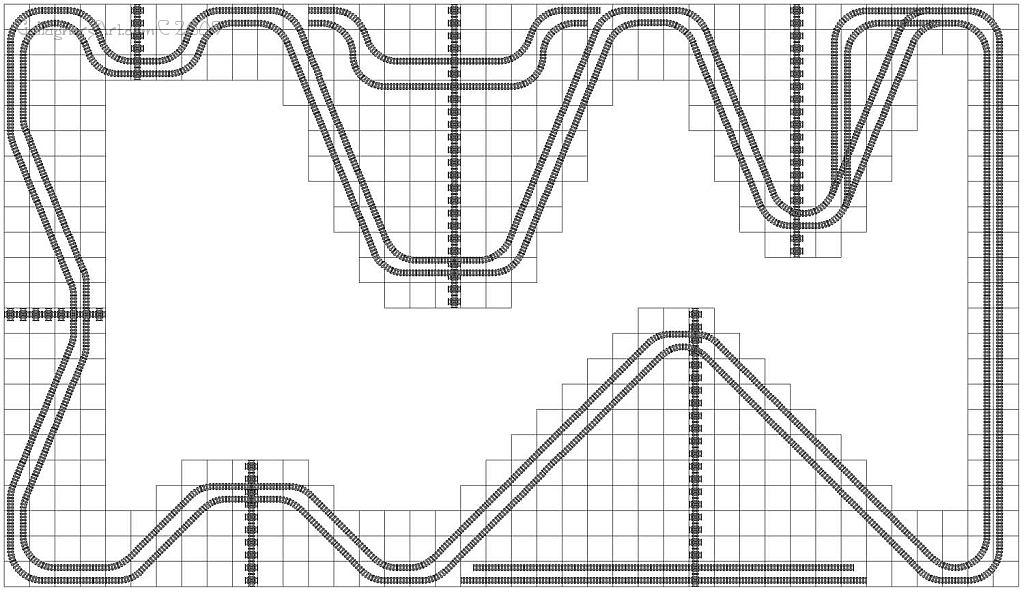 LEGO train track study bends from Lego Train Track Geometry