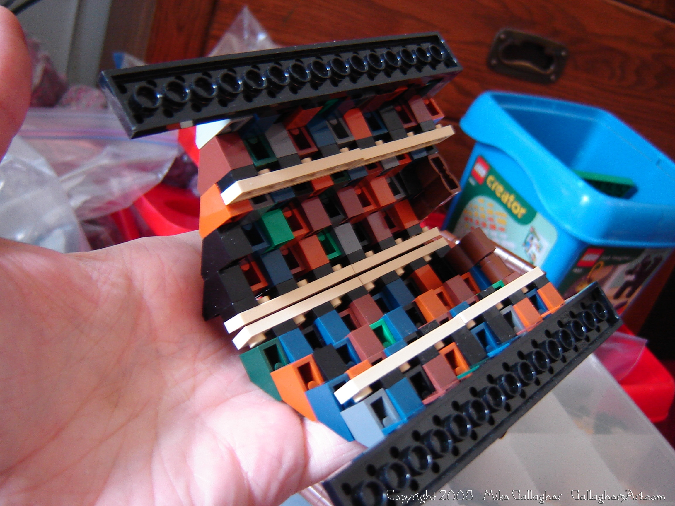 Roofs and roads using 1x3 slope bricks