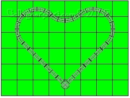 Legal LEGO train track study heart from Lego Train Track Geometry