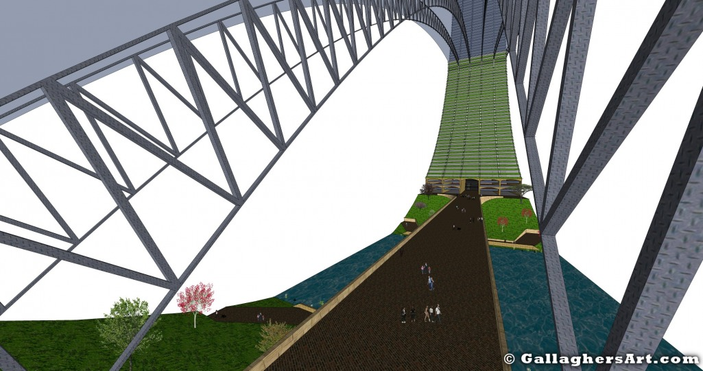 Version 2 from City in a Building GallaghersArt_tower_07_bridge_full_x5_bridgeout.jpg - ver. 2  Bridge Section looking towards center of building