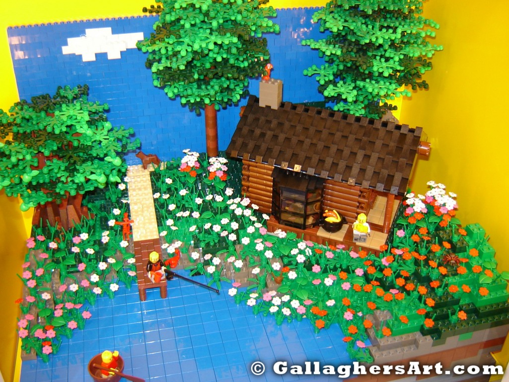 from My Log Cabin at a LEGO store GallaghersArt_DSC03091.jpg