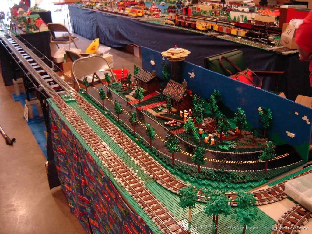 Dsc02467 1 from Ohio State Fair 2008 GallaghersArt_dsc02467_1.jpg - My part of the COLTC LEGO display.