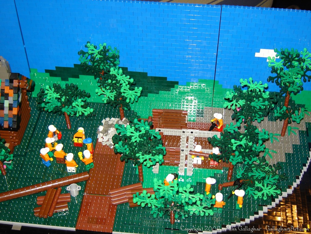 Dsc02477 1 from Ohio State Fair 2008 GallaghersArt_dsc02477_1.jpg - My part of the COLTC LEGO display.