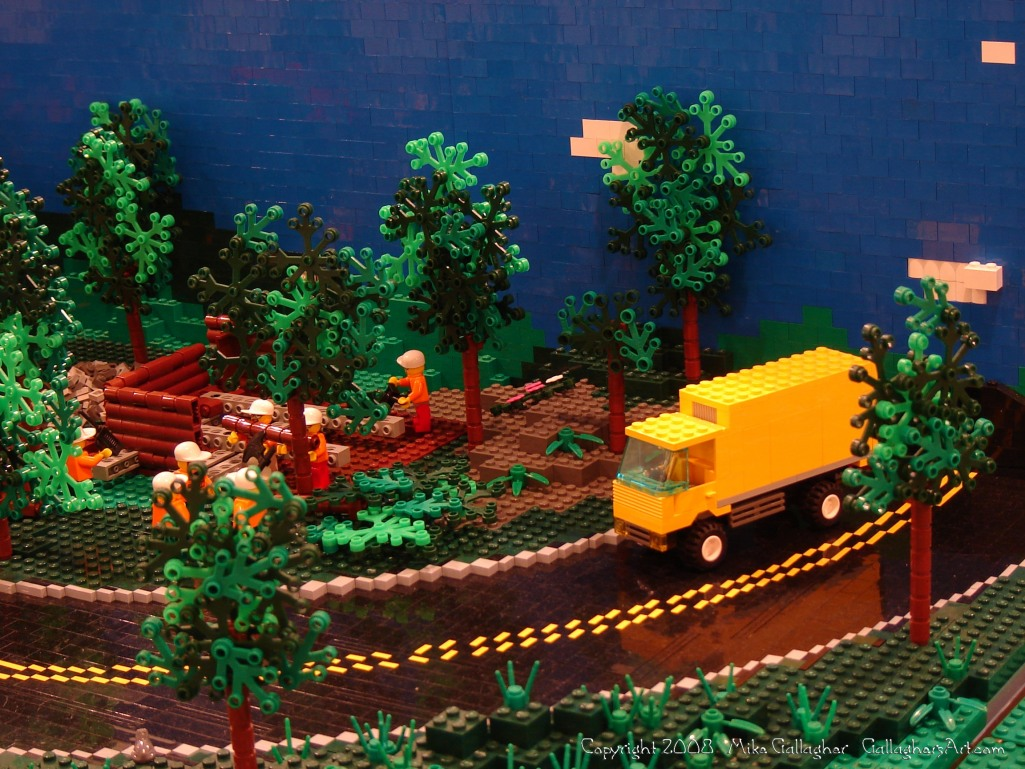 Dsc02548 1 from Ohio State Fair 2008 GallaghersArt_dsc02548_1.jpg - My part of the COLTC LEGO display. Vehicles made by other COLTC members