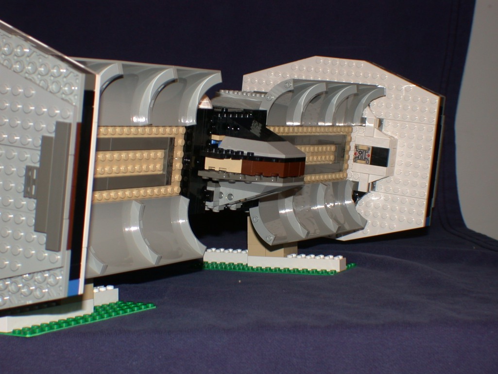Rear open bays from LEGO Space Mother Ship GallaghersArt_rear_open_bays.jpg