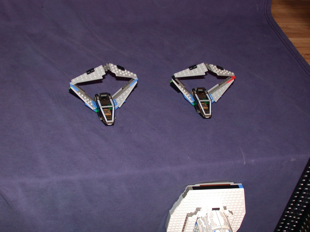 Scout ships from LEGO Space Mother Ship GallaghersArt_scout_ships.jpg