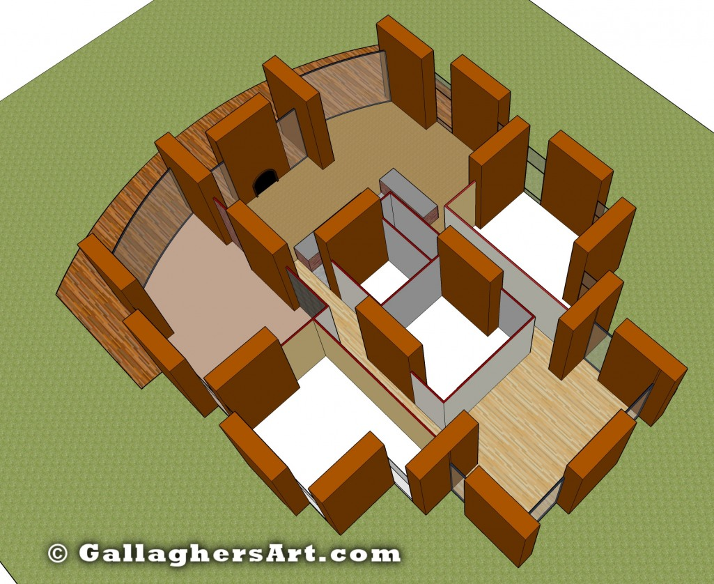 Floor Plan, roof removed from Rammed Earth Designs 2 and 3 GallaghersArt_block_001_floor3.jpg - Floor Plan, roof removed
