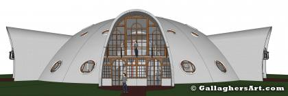 Single family slice of the dome from MultiFamily Dome in 3D DOME_V8_frame_full_side.jpg - Single family slice of the dome