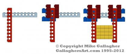 Lego Log Cabin Corners from Mechanics LEGO Log Cabins GallaghersArt_lc_corner_01.jpg - How to Lego Log Cabin Corners