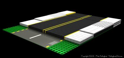 Types of LEGO Roads from Misc Custom LEGO Roads 8x20x8c.jpg - Types of LEGO custom SNOT roads