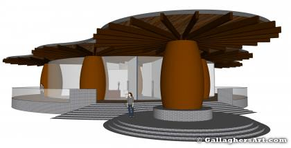 From entrance view from Rammed Earth Designs 2 and 3 GallaghersArt_7_c_FL_3D2.jpg - From entrance view