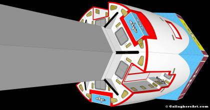 Configured habitable spacecraft from Idea for Future Space Flight hab_nav_05_k.jpg - Configured habitable spacecraft with 6 modules