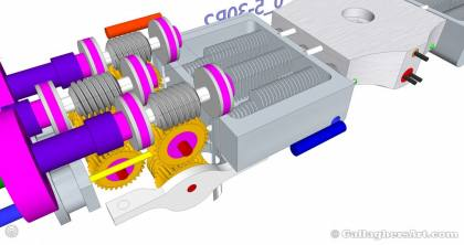 Gallaghersart gears 69 g05 30r2 d from My 3D Printer Designs gallaghersart_gears_69_g05_30r2_d.jpg - 3x Remote Large Dual Gears Filament Extruder ver. 0.3 - Custom 05 30R2 Worm Gears with Water Cooler and 6 into 1 Hot end