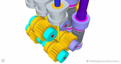 Gallaghersart gears 69 g08 20t d from My 3D Printer Designs gallaghersart_gears_69_g08_20t_d.jpg - 3x Remote Large Dual Gears Filament Extruder ver. 0.02 - Custom 08 20t Worm Gears