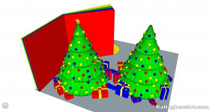 from 3d Printed Multi-part Christmas Tree GallaghersArt_gallaghersart_xtree_43.jpg - Version# 43   4x Color   Purge