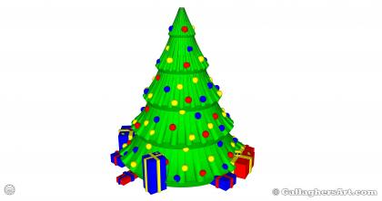 from 3d Printed Multi-part Christmas Tree GallaghersArt_gallaghersart_xtree_43_1x.jpg - Version# 43 4x Color Single Tree