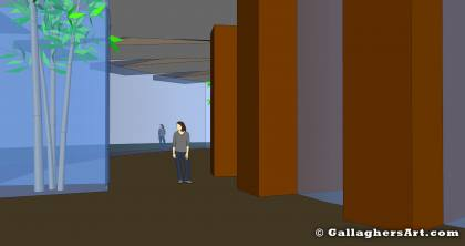 Interior open space from Cable Stayed Roof mono_24_002_inside.jpg - Interior open space, once built room and hallway walls would fill this open space