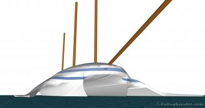 At Water Level from Multi Hull Tall Ship Idea GallaghersArt_sail_10o_sm.jpg - At Water Level