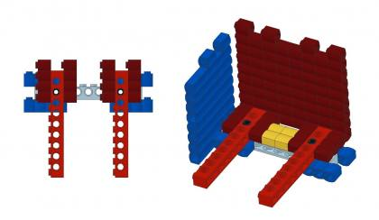 Lego Log Cabin Corners from Mechanics LEGO Log Cabins GallaghersArt_basic_LC_01.jpg - How to Lego Log Cabin Corners with other wall