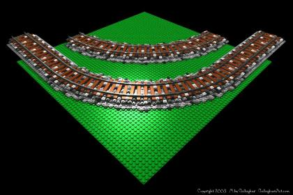 LEGO rail from Misc Custom LEGO Roads RR_Ballast_05.jpg - LEGO rail road ballasted curve