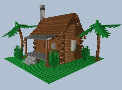 from LEGO Log Cabins GallaghersArt_logcabin_b.jpg