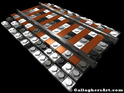 LEGO rail from Misc Custom LEGO Roads GallaghersArt_RR_ballest_02.jpg - LEGO rail road ballasted track