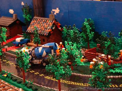 Dsc02549 1 from Ohio State Fair 2008 dsc02549_1.jpg - My part of the COLTC LEGO display. Vehicles made by other COLTC members