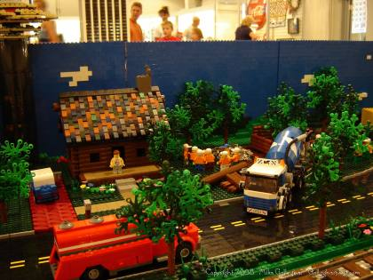 Dsc02555 1 from Ohio State Fair 2008 dsc02555_1.jpg - My part of the COLTC LEGO display. Vehicles made by other COLTC members