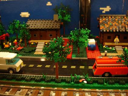 Dsc02556 1 from Ohio State Fair 2008 dsc02556_1.jpg - My part of the COLTC LEGO display. Vehicles made by other COLTC members