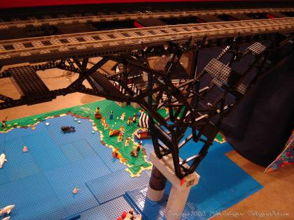 Dsc02559 1 from Ohio State Fair 2008 dsc02559_1.jpg - My part of the COLTC LEGO display. Vehicles made by other COLTC members