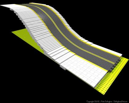 LEGO slope road from Misc Custom LEGO Roads GallaghersArt_ramp_02sm.jpg - Flexible LEGO slope road