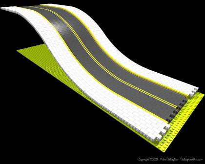 LEGO slope road from Misc Custom LEGO Roads GallaghersArt_ramp_04_a_sm.jpg - Flexible LEGO slope road