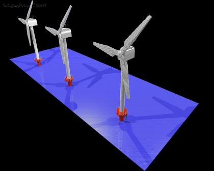 LEGO Windturbines from LEGO Windmill GallaghersArt_wind_tower_2_groups.jpg - 3 LEGO Windturbines