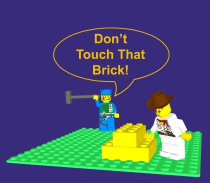 from COLTC LEGO Signs GallaghersArt_dont_touch_that_brick.jpg