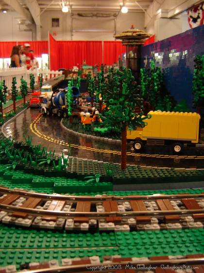 Dsc02545 1 from Ohio State Fair 2008 dsc02545_1.jpg - My part of the COLTC LEGO display. Vehicles made by other COLTC members
