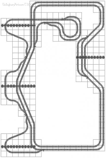 Legal LEGO train track layout from Lego Train Track Geometry GallaghersArt_turn_off_bends_01_g2.jpg - Legal LEGO train track layout